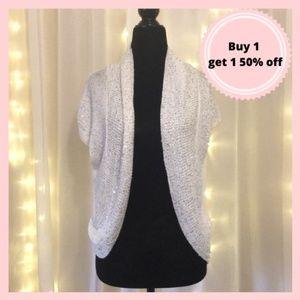 White kismet sequin cardigan sweater
